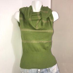 Nine West Bright Pistachio Green Mock Neck Sweater